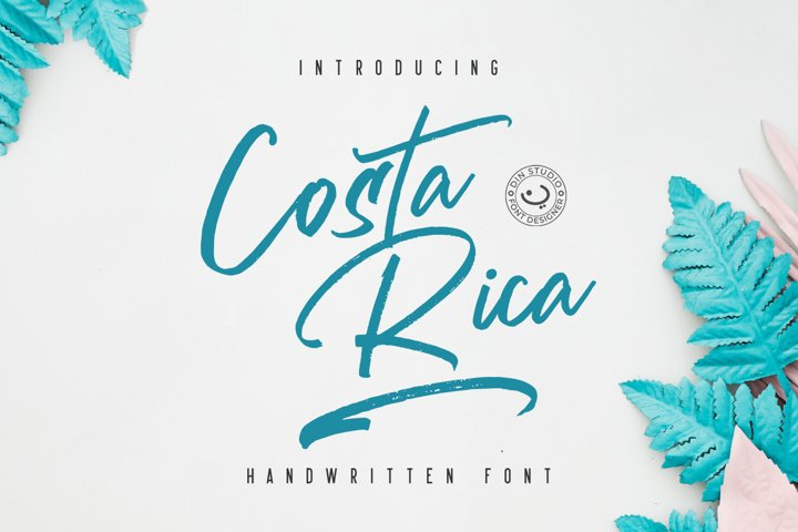 Costa Rica - Brush Font
