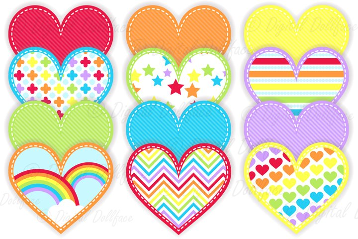PNG Rainbow Heart Clipart / Gay Pride Graphics