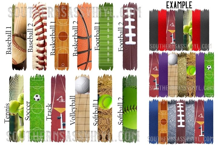 Sports Brush Strokes Collection- Clipart Design Element