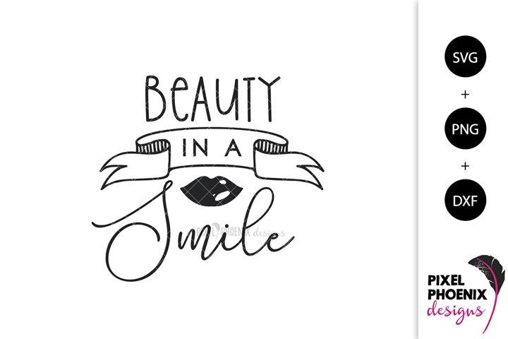 Makeup SVG, Beauty SVG, Beauty in a Smile