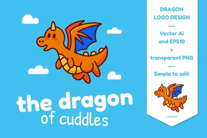The Dragon of Cudddles Logo Mascot