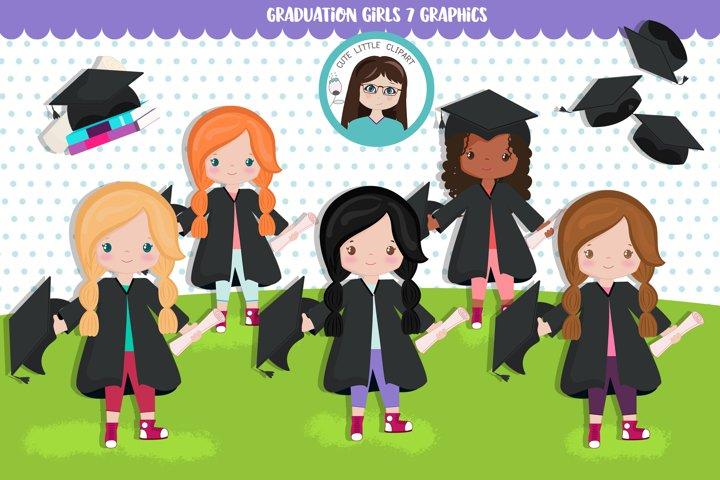Graduation Girls cliparts