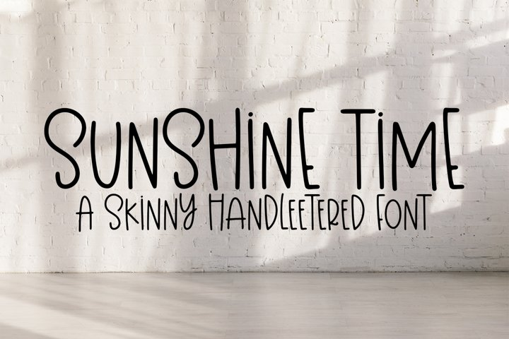 Sunshine Time - A Quirky Hand-Lettered Font
