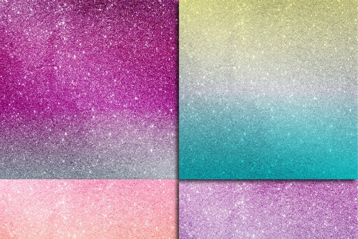 Glitter Ombre Digital Paper - Free Design of The Week Design4