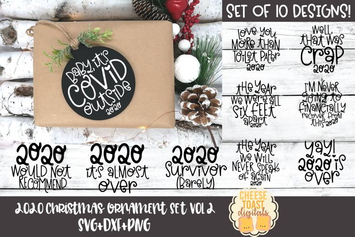 2020 Christmas Ornament Bundle Vol 2 | Christmas SVG Rounds