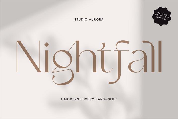 Nightfall - Modern Luxury Sans-Serif