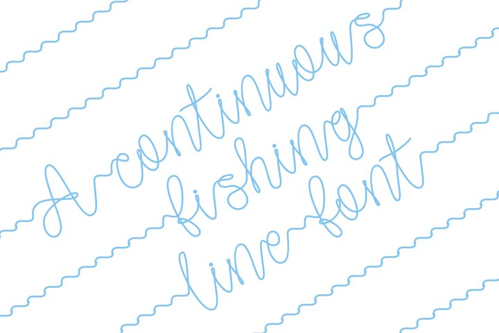 Gone Fishing - a fishing line font - Free Font Of The Week Design5