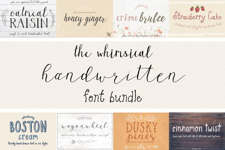 The Whimsical Handwritten Font Bundle