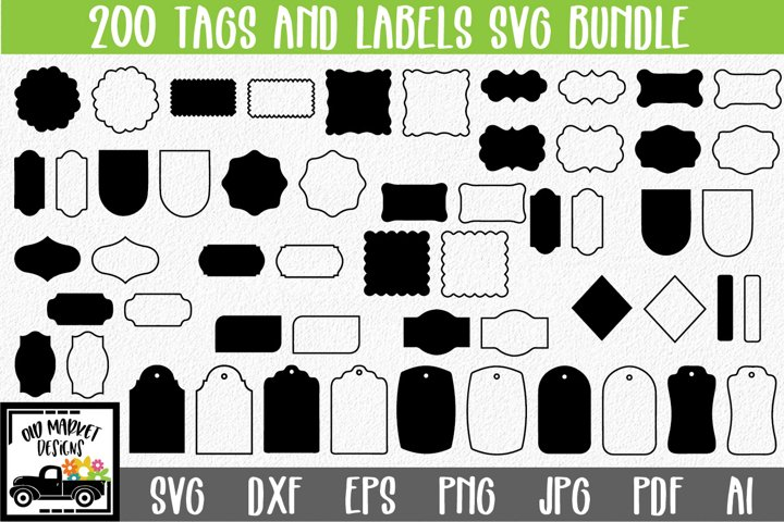 200 Tags and Labels SVG Bundle