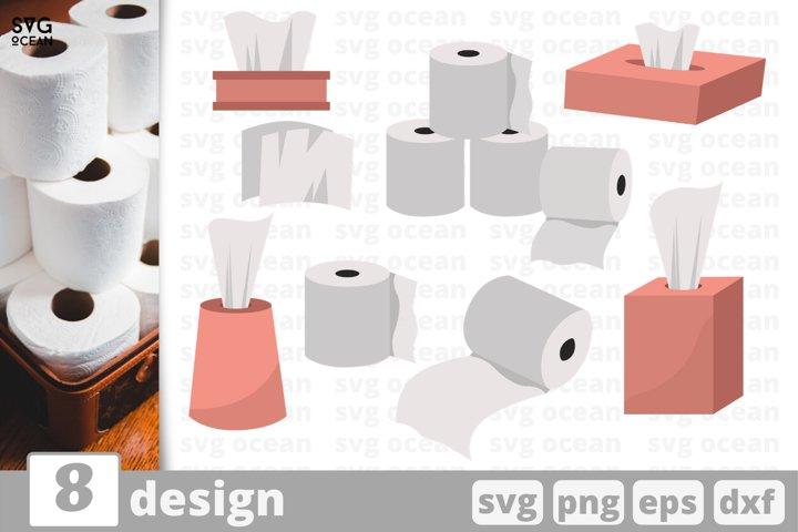 8 TOILET PAPER SVG BUNDLE | Napkins svg | Toilet papers svg