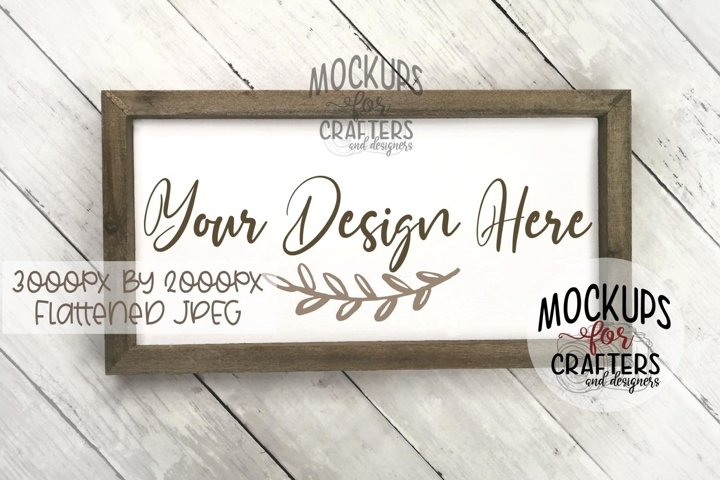 Wood Sign Mock-Up - rectangle