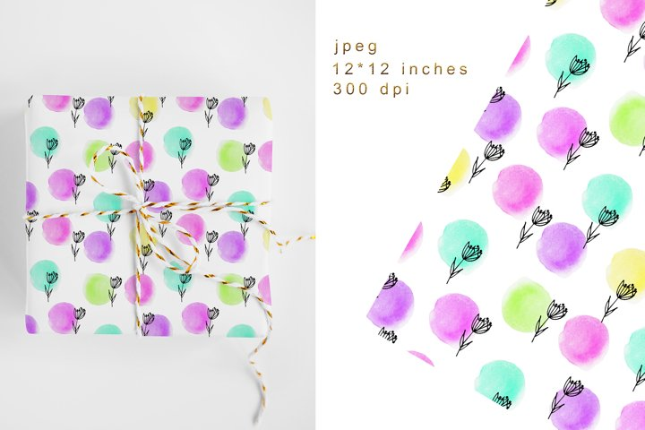 Floral Digital Paper. Floral Seamless Pattern