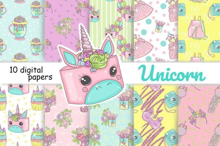 Unicorn PATTERN Fashion Illustration Fairy Tale Spring JPEG