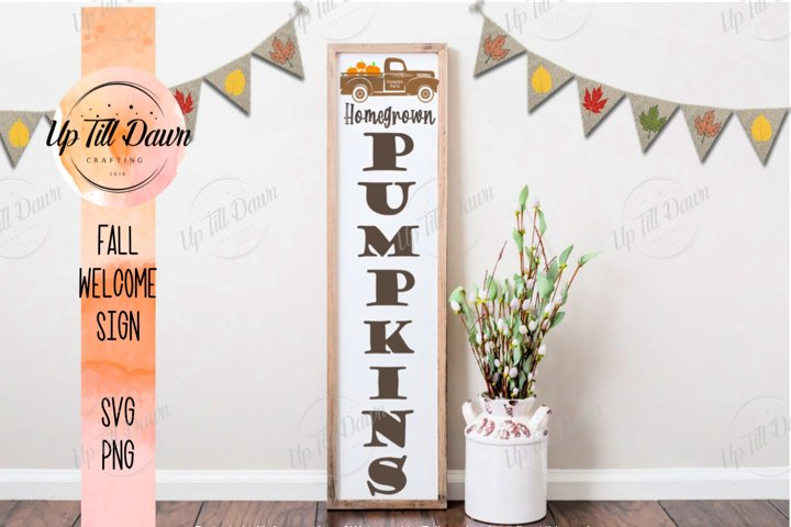 Pumpkin Farm Welcome Porch Sign SVG