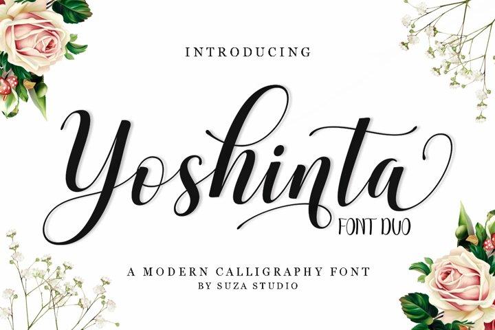 Yoshinta Script - Font Duo