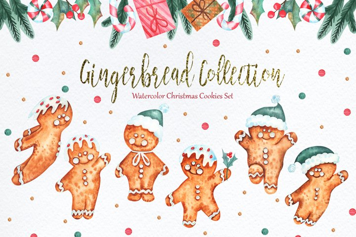 Watercolor Gingerbread Collection