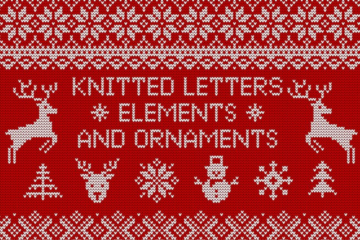 Knitted Letters, Symbols & Ornaments
