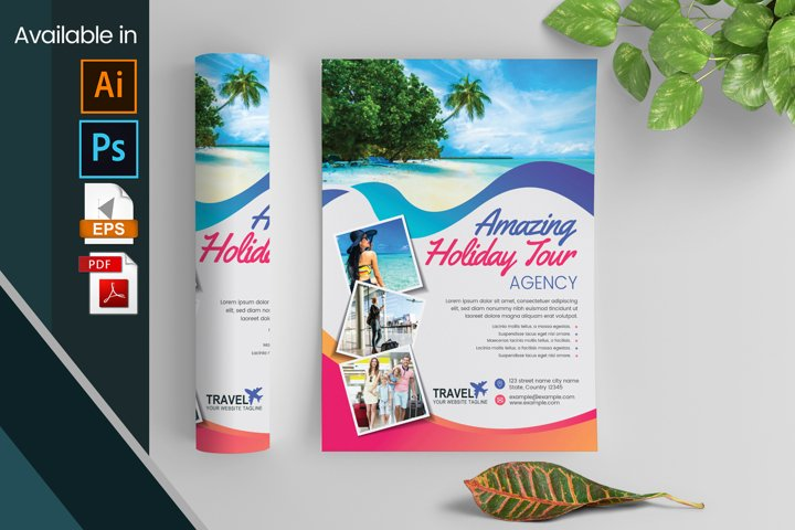 Holiday Travel Flyer Layout