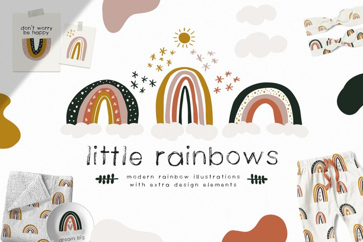 Little Rainbows - Clip Art Collection