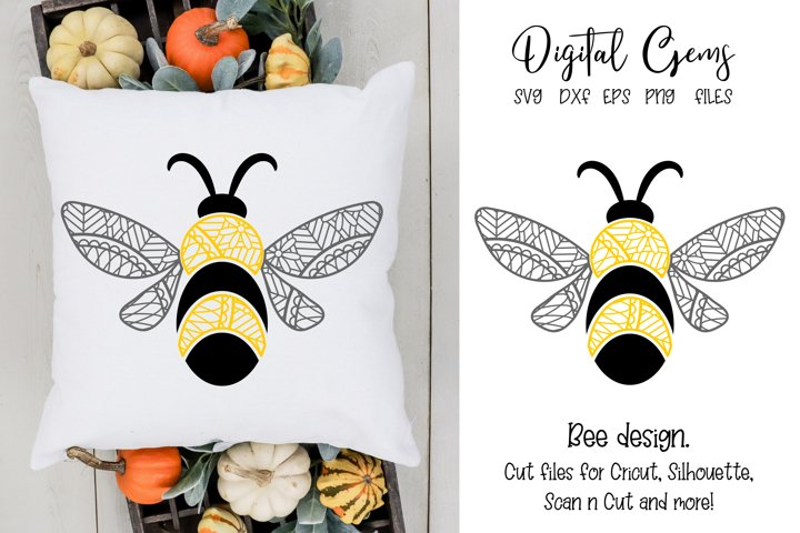 Bee design SVG / DXF / EPS / PNG Files