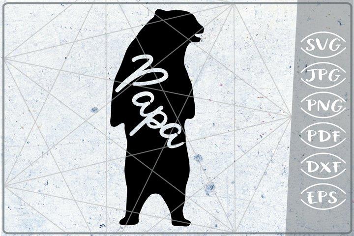 Papa Bear SVG Cutting File Mothers Day svg png cricut files