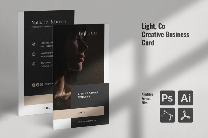 LIGHT Creative Business Card