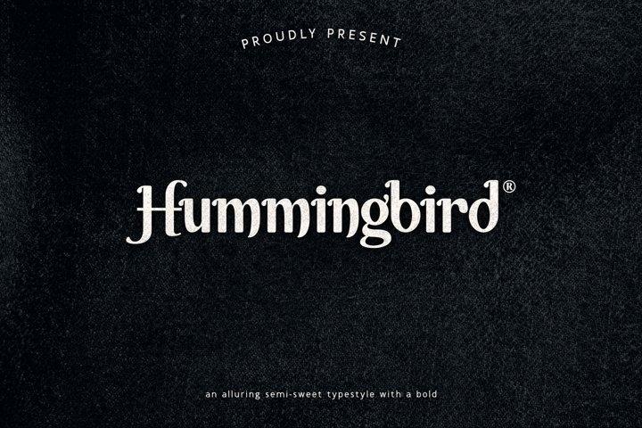 Hummingbird - Semi-Sweet Typestyle