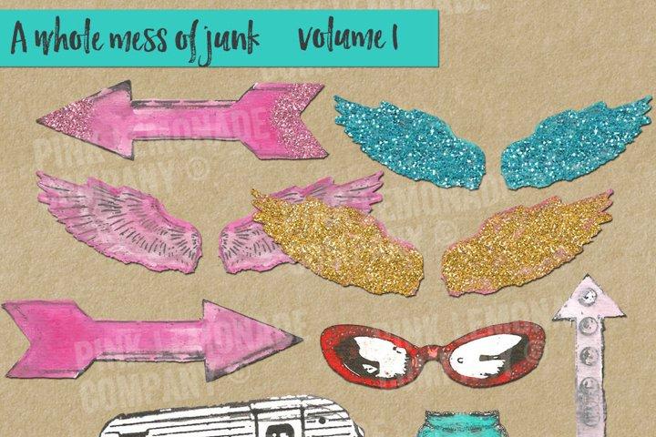 Junk Lovin Clip Art Kit Volume 1