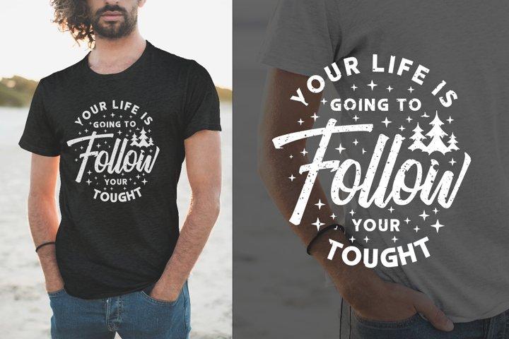 Inspiring Slogan Quotes, Typography Lettering T-shirt Design