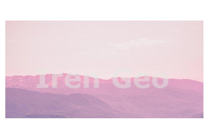 Beautiful mystic mountains sunset landscape