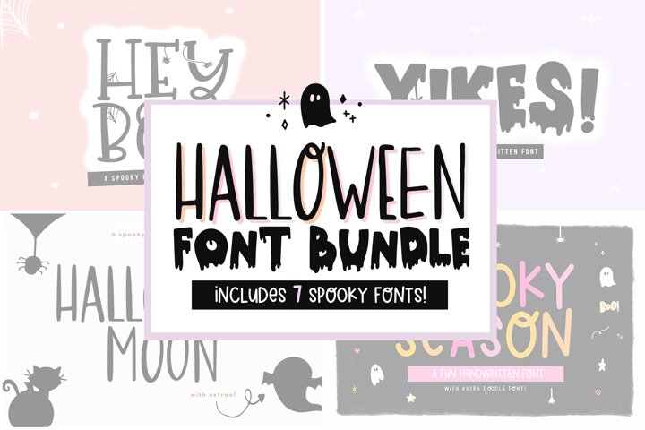 Font Bundle - Handwritten Fonts for Crafters - Halloween