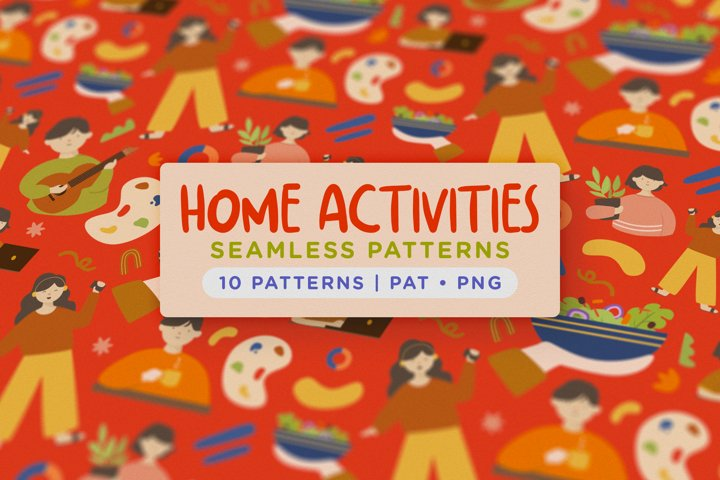 Home Activity Seamless Patterns