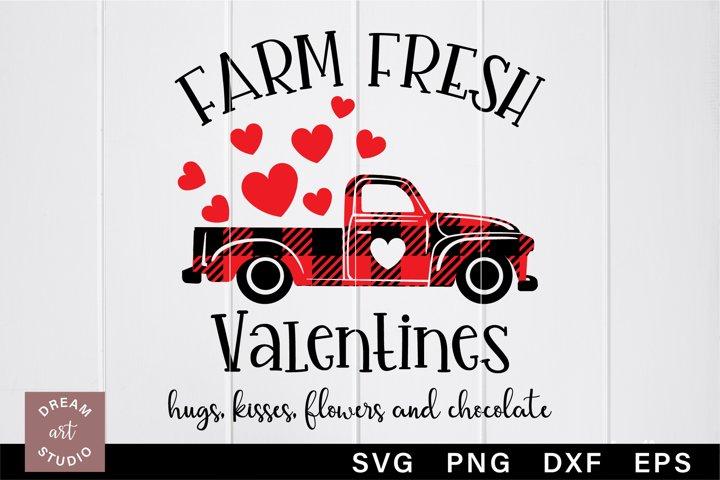 Farm fresh Valentines svg Old red truck svg