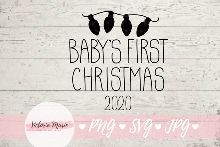 Babys First Christmas Ornament svg, 1st Christmas svg