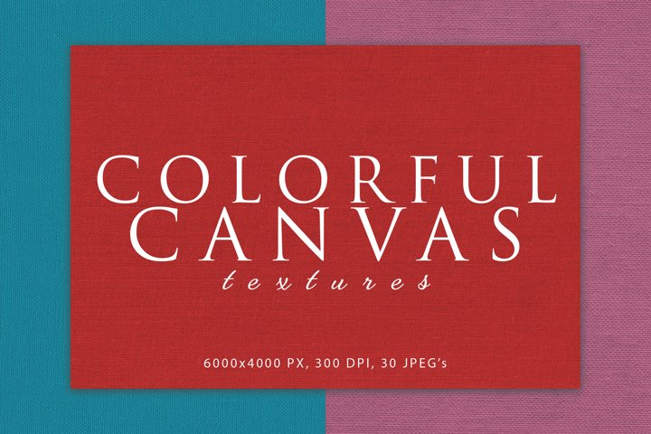 Colorful Canvas Textures