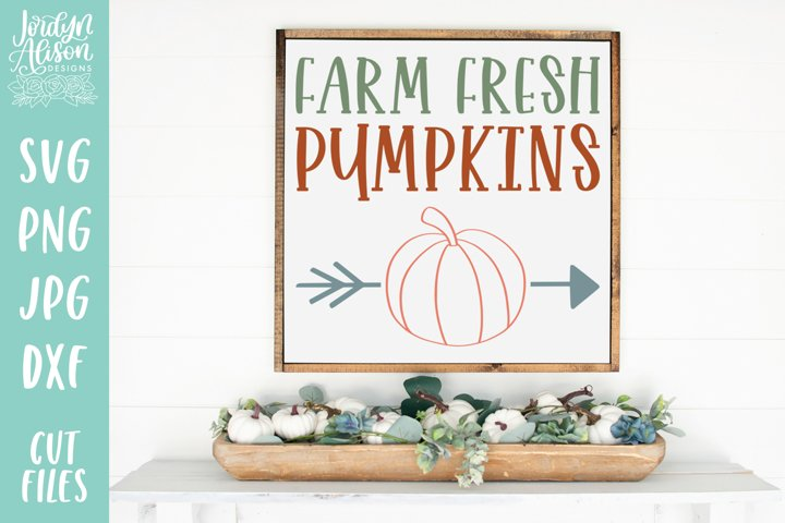 Farm Fresh Pumpkins, Fall SVG Cut File