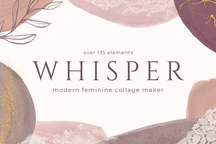 Modern Abstract Collage Maker - Feminine Design Kit
