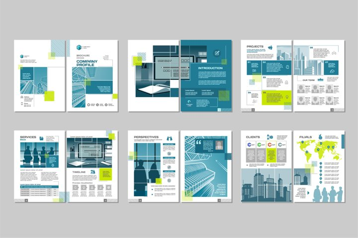 Brochure template concept creative design.