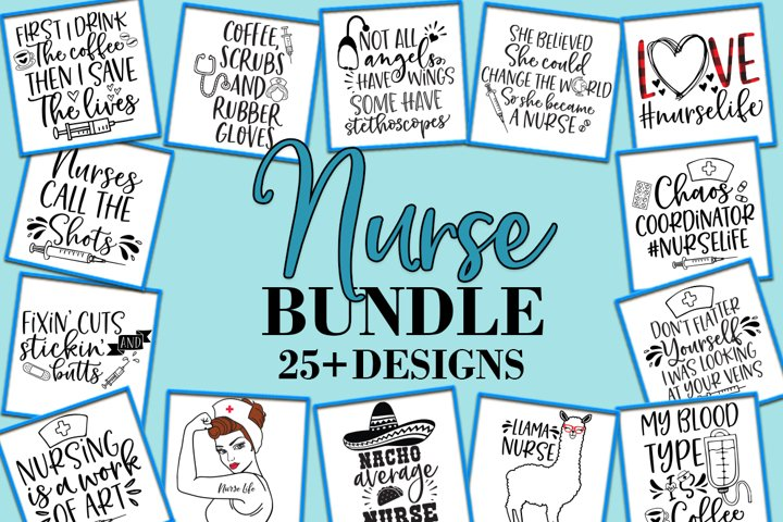 Nurse bundle SVG DXF EPS PNG