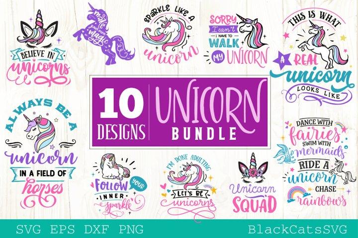 Unicorn SVG bundle 10 designs Magic SVG bundle
