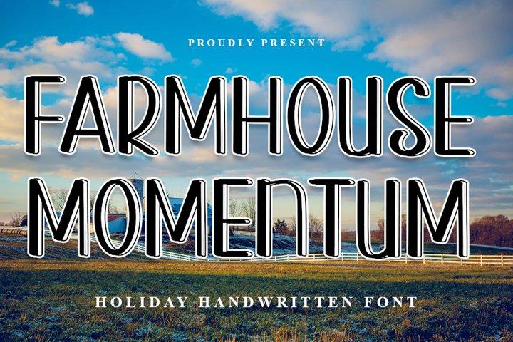 Farmhouse Momentum - Modern Handwritten Font