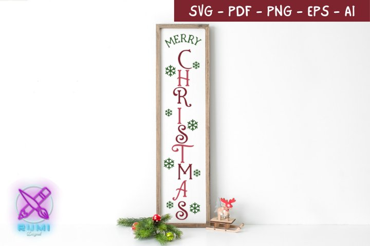 Merry Christmas, Christmas Front Porch Sign SVG
