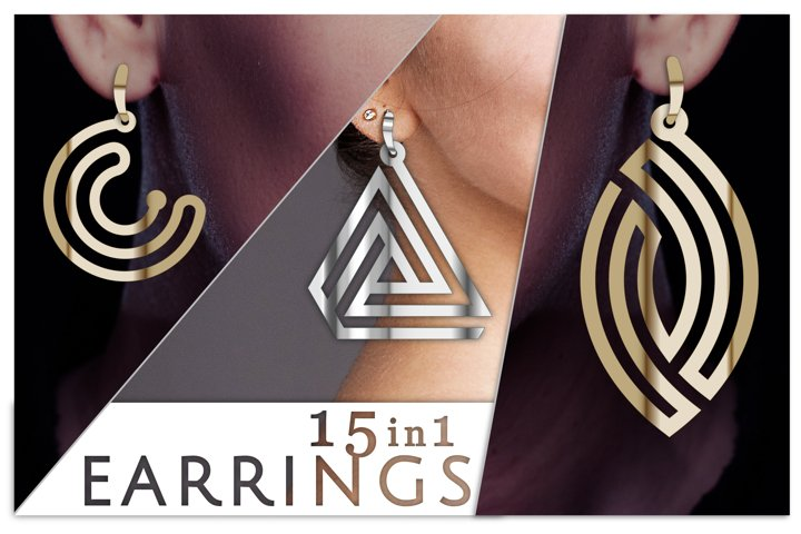 15 Cricut earring SVG, Earring file, Jewelry shape SVG