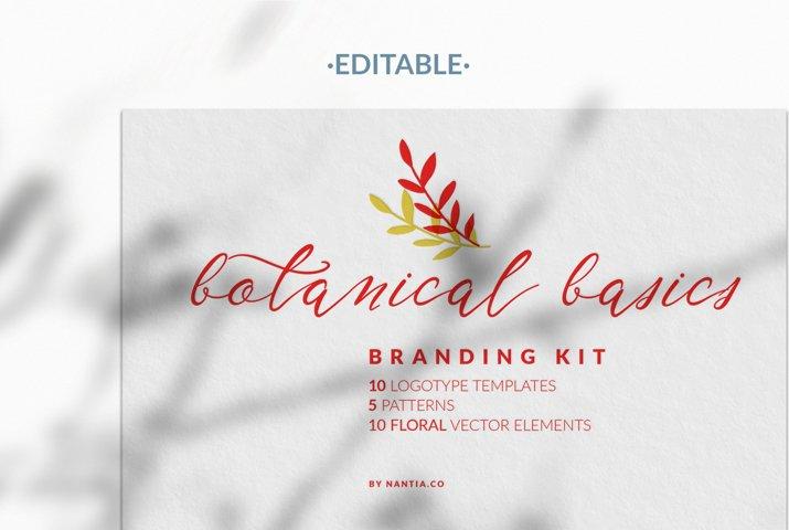 Botanical Basics Branding Kit Logotype Template