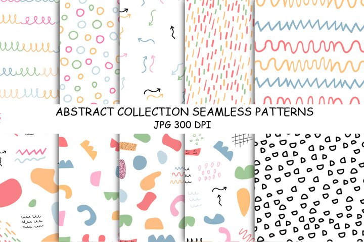 ABSTRACT digital paper Seamless Patterns