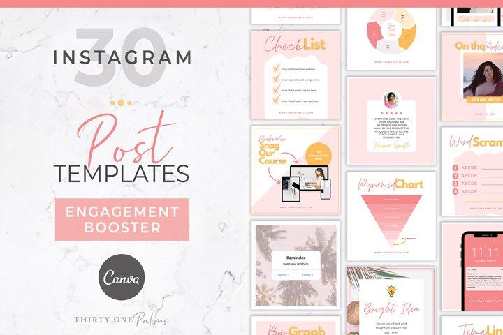 Instagram Engagement Booster for Canva   Pink & Orange