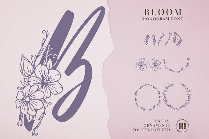 Bloom Monogram Font