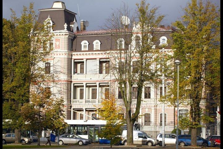 Russian embassy building in Riga, Latvia.Russian embassy bui