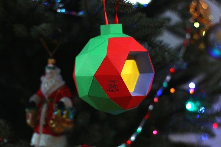 Christmas Decoration, Papercraft decoration, Paper Garland