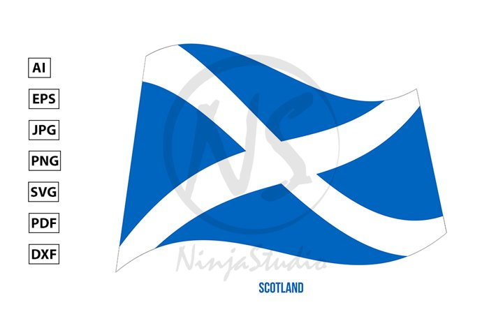 Scotland Flag Waving. Countries of the United Kingdom